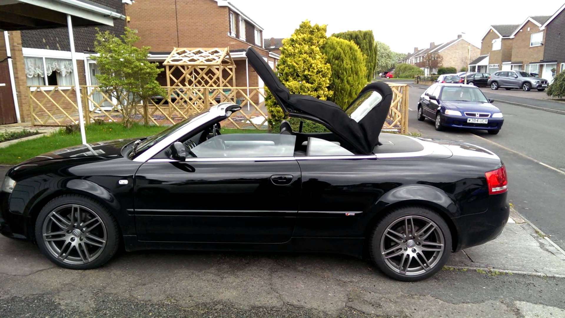 audi cabriolet manual roof operation