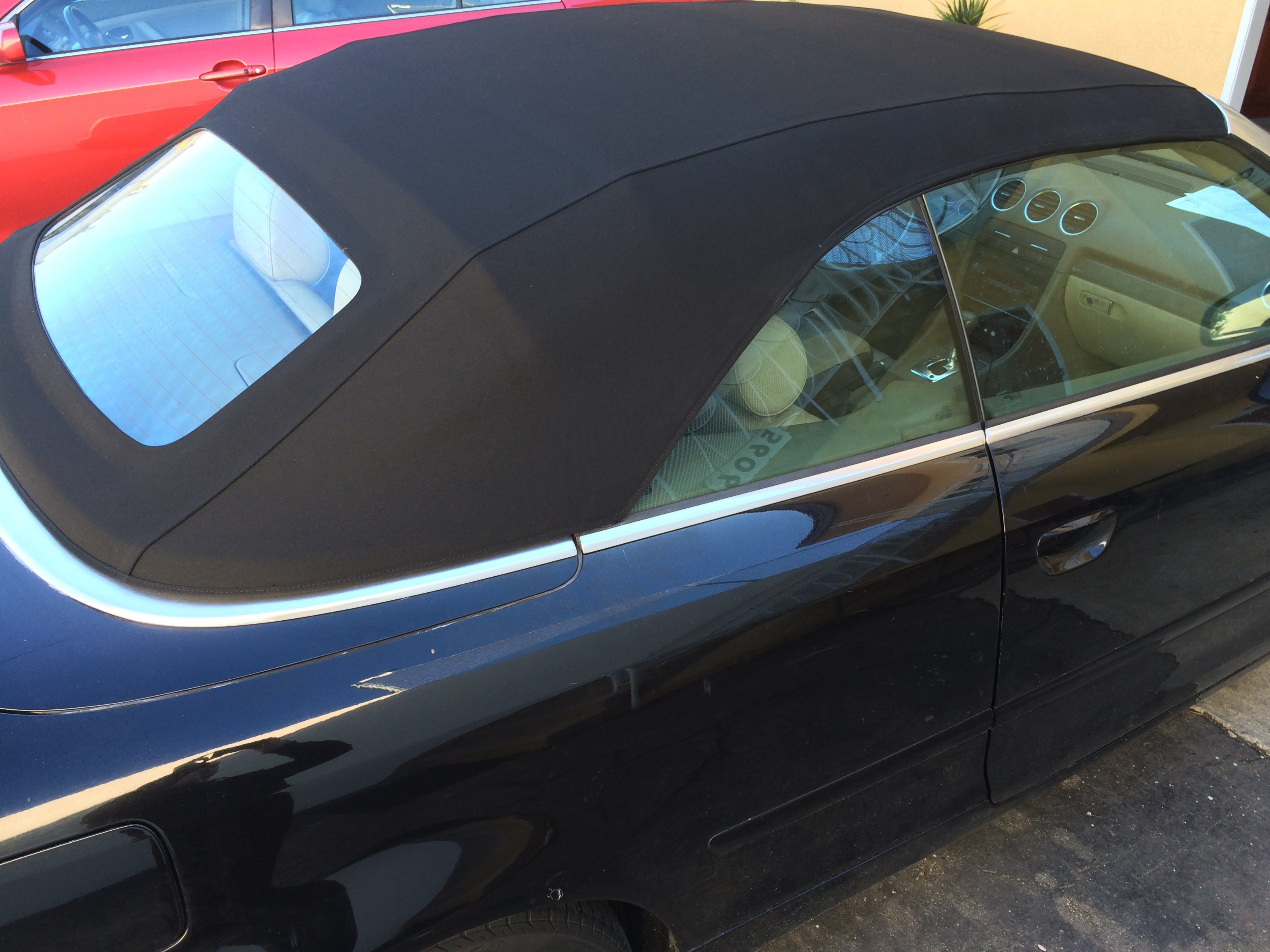 audi cabriolet rear window replacement