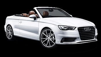 audi cabriolet white