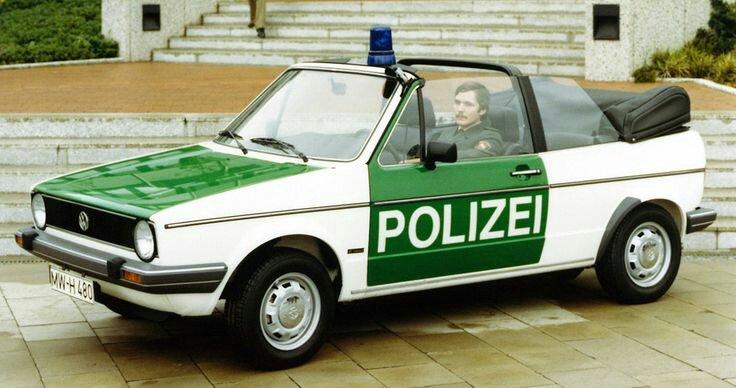 cabriolet de police