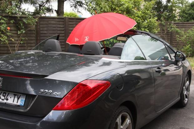 cabriolet quand il pleut