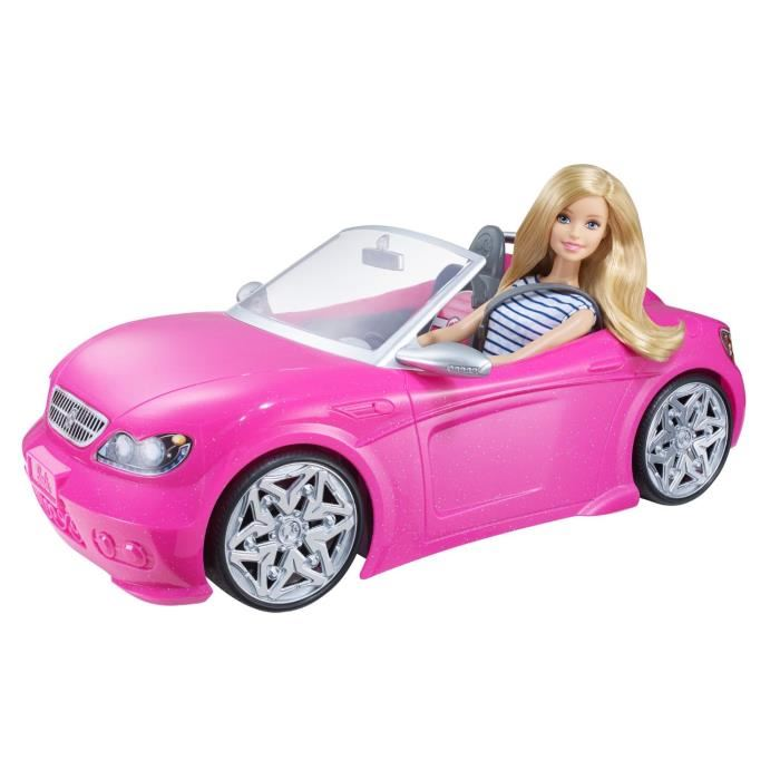 cabriolet rose barbie