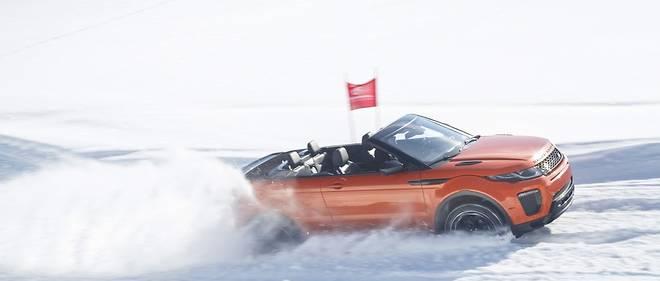 cabriolet sous la neige
