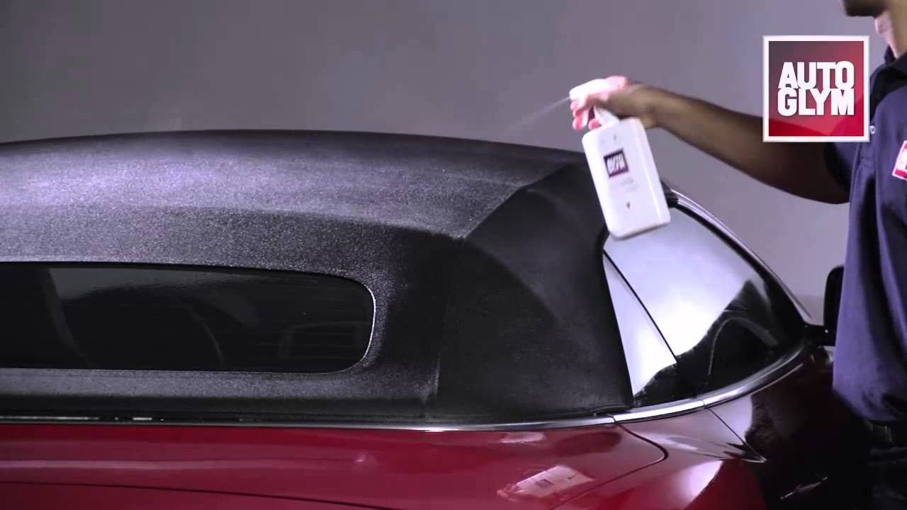 audi cabriolet hood cleaning