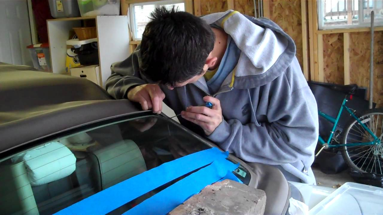audi cabriolet rear window repair