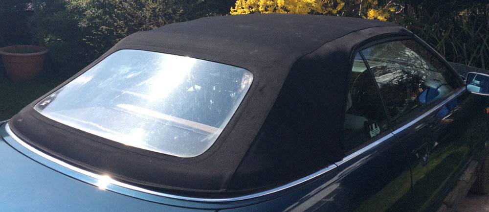 audi cabriolet roof cleaning