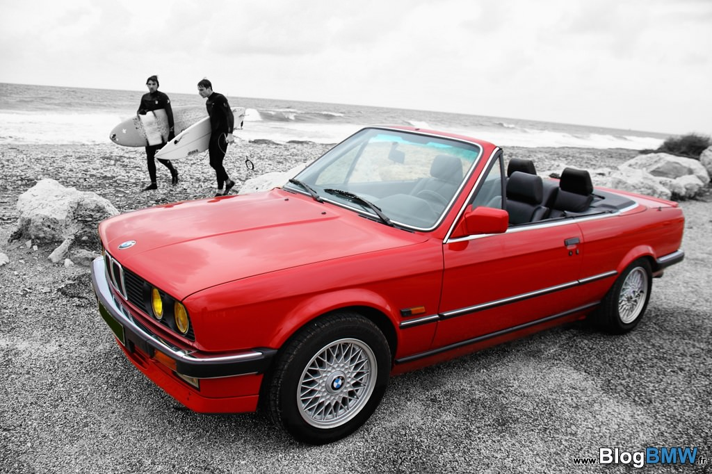 bmw e30 cabriolet rouge